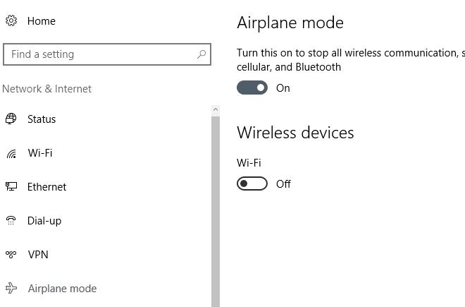 airplane Windows 10