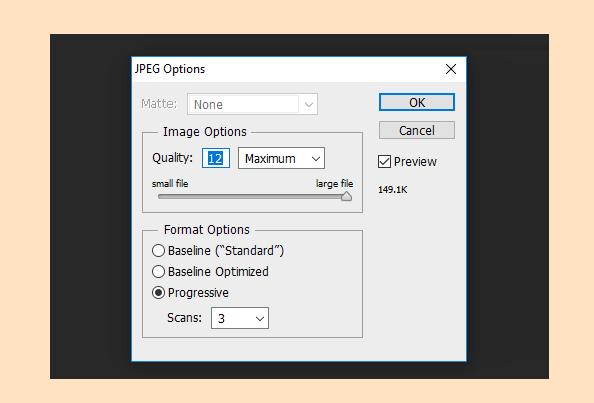 Setting Kualitas File PS Ke Maksimal