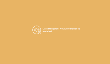 Cara Mengatasi No Audio Output Device Installed