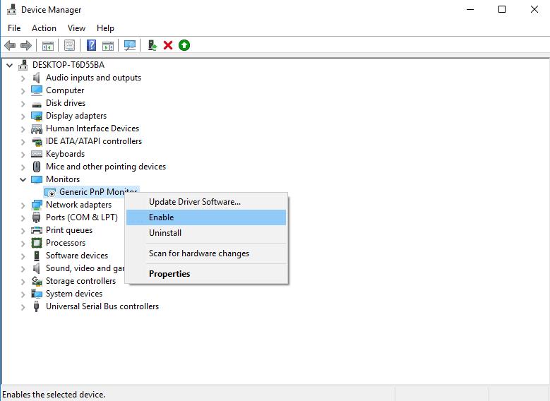 Mengatur Ulang Generic PnP Monitor