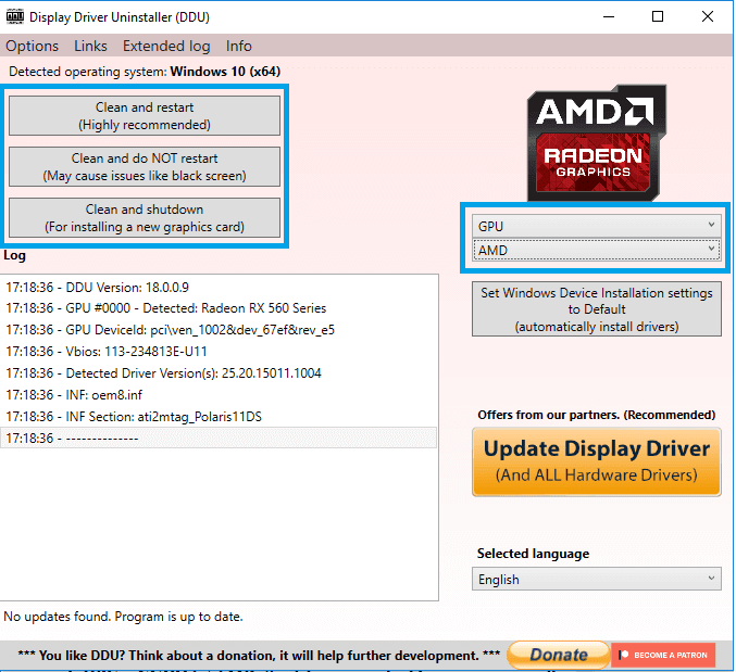 Uninstall Driver VGA AMD Dan NVIDIA