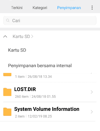 Format Lewat Android