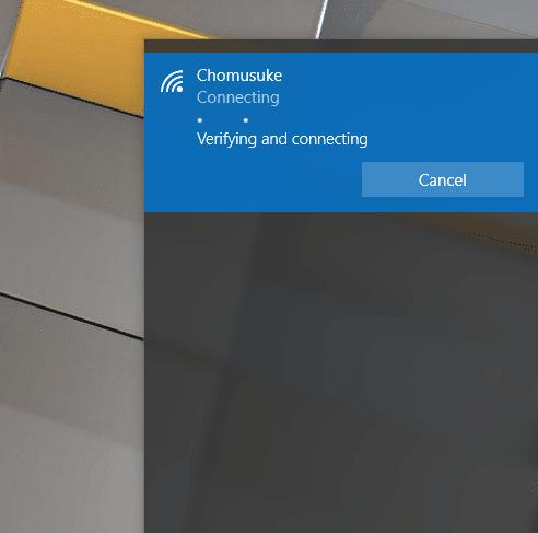 Proses Nyambung WIFI