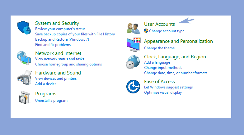 User Account Laptop