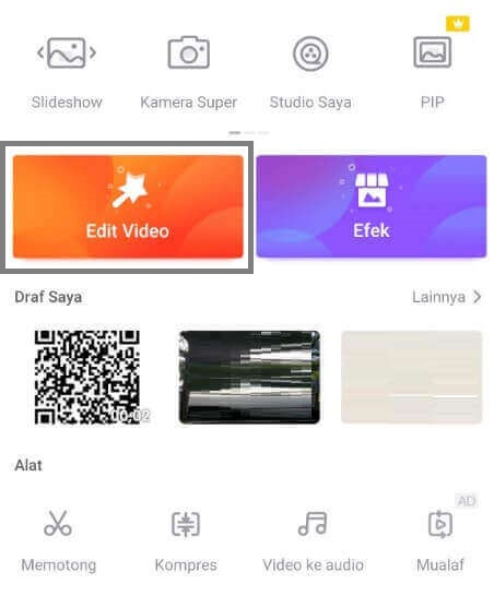 Edit video foto lagu android videoshow
