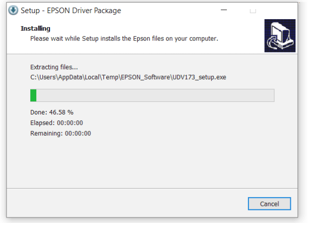 Install Driver Proyektor