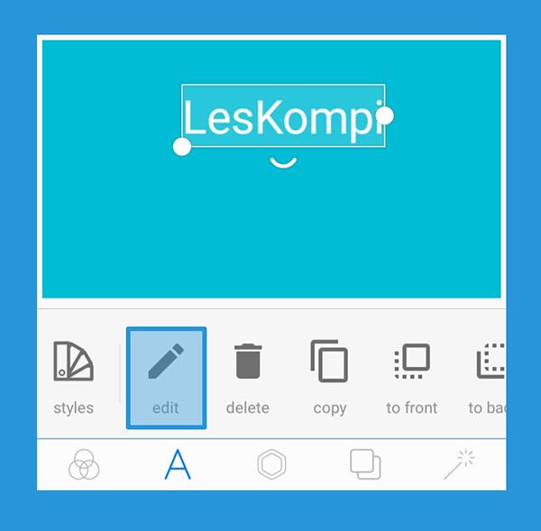 Edit Untuk Menambah Teks di Aplikasi