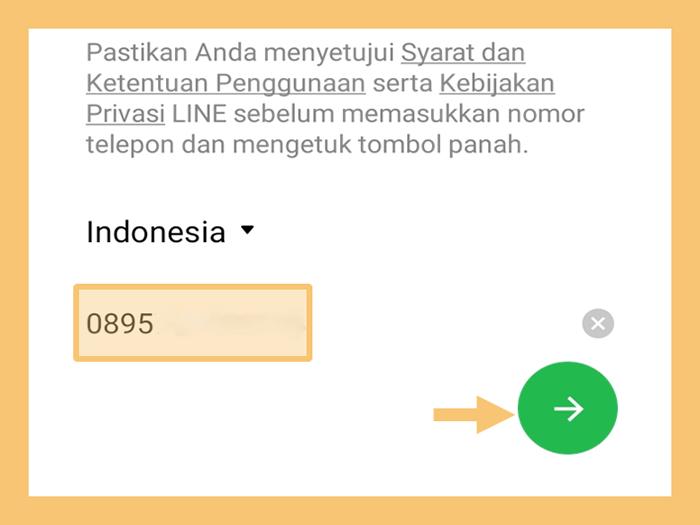 Masuk Ulang Akun Line Dengan Nomor Telepon