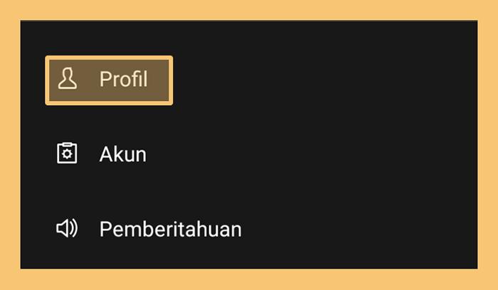Pengaturan Profil Line