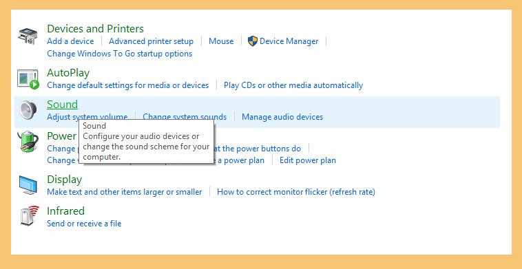 Pengaturan Sounds di Control Panel