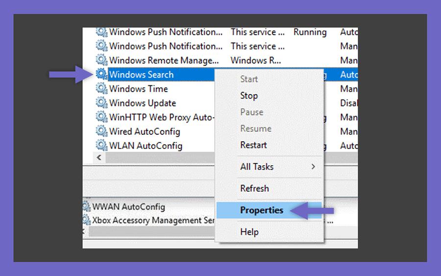 Pengaturan Windows Search