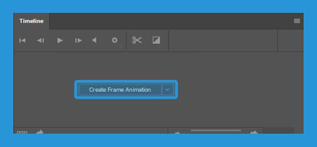 Opsi Create Frame Animation di Photoshop