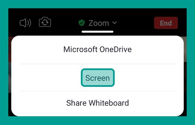Opsi Screen di Zoom Android