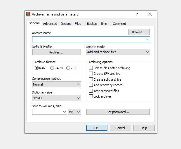 Contoh Kompres Data RAR di Windows
