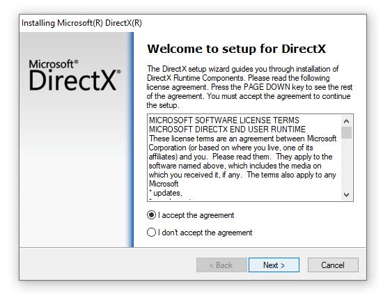 Setup Utama di Aplikasi DirectX