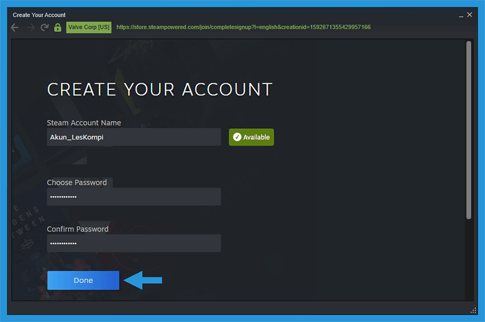 Buat Username Akun Steam Client