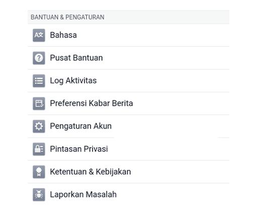 Buka Pengaturan FB di Android