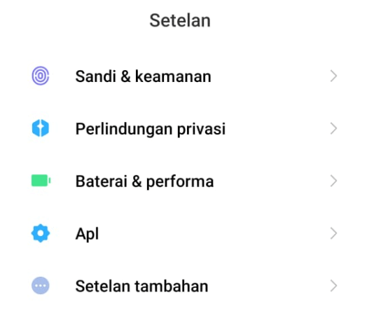 Menu Apps di Setelan Android