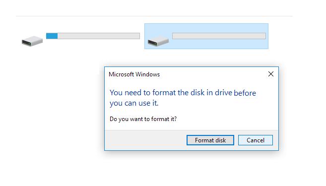 Contoh Pesan Format Flashdisk Muncul