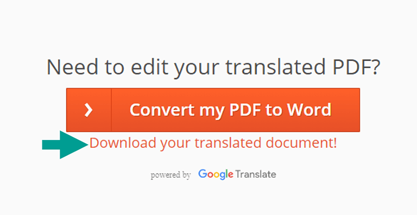 Menu Download Your Translated Document