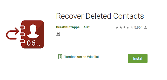 Aplikasi Recover Deleted Contact Playstore