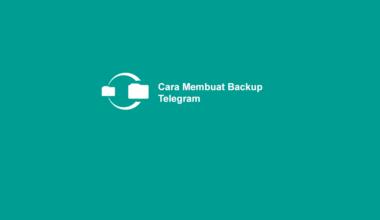 Cara Buat Backup Telegram