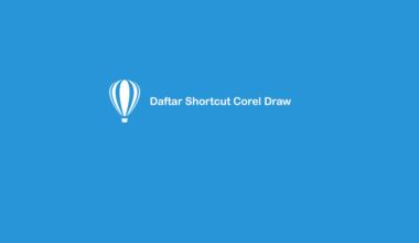 Shortcut Corel Draw